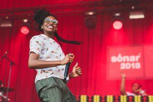 Tota l'empatia de la rapera anglesa Little Simz a la primera jornada del Sónar 2018