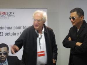 VICENÇ BATALLA | Le président de l'Institut Lumière, Bertrand Tavernier, et le primé 2017, Wong Kar-wai, avant la conférence de presse
