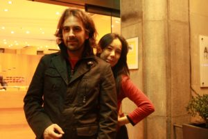 ARXIU CCCB | Isaki Lacuesta i Noemi Kawase, al setembre del 2008 a Banyoles, durant les seves correspondències promogudes pel Centre de Cultura Contemporània de Barcelona