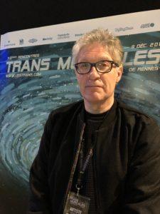 VICENÇ BATALLA | El periodista i productor musical Martin Meissonnier davant del cartell del Transmusicales 2018