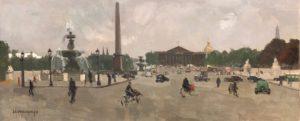 ARXIU SALA PARÉS | La plaça de la Concòrdia de París, en un oli de Rafael Durancams (1981-1979) de l'exposició París a Parés