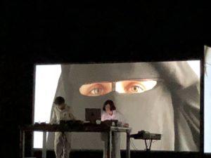 VICENÇ BATALLA | El músic Refree, amb dj Ylia, durant el seu primer concert d'electrònica el juny passat al Sónar de Barcelona amb videoimatges d'Isaki Lacuesta