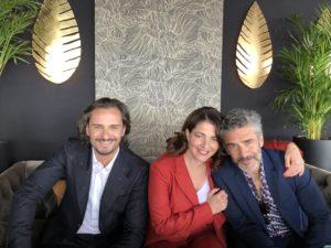 VICENÇ BATALLA | Asier Etxeandia, Nora Navas i Lorenzo Sbaraglia, actors de <em>Dolor y gloria</em> a Canes