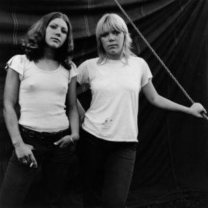 SUSAN MEISELAS/MAGNUM PHOTOS | Rockland, Maine. 1972. Debbie and Renee