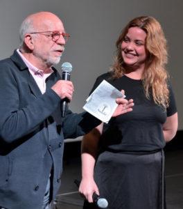 LAURA MORSCH | Francis Saint-Dizier, president de l'entitat que organitza el festival Cinélatino, i Claudia Calviño