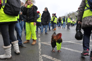 © ÉRIC HADJ PER PARIS MATCH | Una icona de les armilles grogues, en una manifestació a Bourges el 12 de gener de 2019