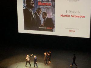 VICENÇ BATALLA | La projecció a l'Auditorium de Lió de 'The Irishman', amb un Martin Scorsese encoratjat per Thierry Frémaux i Bertrand Tavernier darrera