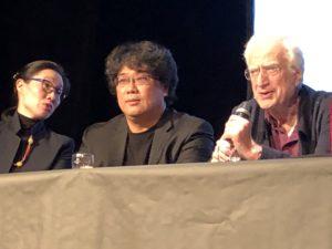 VICENÇ BATALLA | Bertrand Tavernier, intervenint a la classe magistral del sud-coreà Bong Joon-ho guanyador de la Palma d'Or 2019 amb <em>Parasite</em>