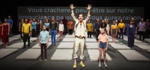 CHRISTOPHE RAYNAUD DE LARGE | Una de les escenes de Nous, l'Europe, banquet des peuples, de Roland Auzet, al Festival d'Avinyó 2019