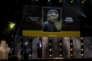 MAT NINAT STUDIO/CANAL+   Le producteur de J'accuse, Alain Goldman, revendiquant le prix à la meilleure mise en scène pour Roman Polanski