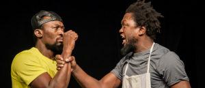 ARCHIVO | Los actores Bachir Tassembedo y Jules Soguira Gouba, en <em>Gibraltar</em> de Guy Giroud