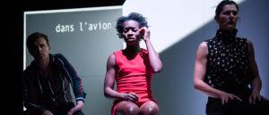 ARXIU | L'actor Xavier Czapla i les actrius Juliette Coulon i Laetitia Lalle di Bénie a <em>Je ne marcherais plus dans les traces de tes pas</em> d'Alexandra Badea