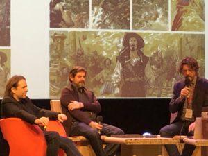 VICENÇ BATALLA | Encuentro con el público de Alain Ayroles y Juanjo Guarnido, a la izquierda, en el Festival de Angulema para presentar <em>El Buscón en las Indias</em>