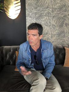 VICENÇ BATALLA | Antonio Banderas, durant la trobada amb la premsa al Festival de Canes al maig passat per Dolor y gloria