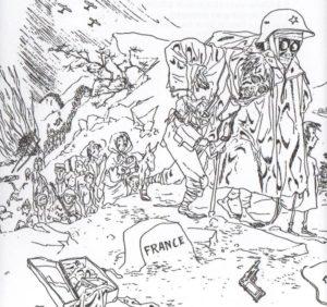 JOSEP BARTOLÍ | Un des dessins de Josep Bartolí sur la 'Retirada' et qu'il avait publié à <em>Campos de concentración 1939-194…</em> au Mexique