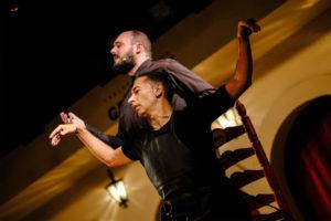KANA KONDO   Niño de Elche i Israel Galván, sincronitzant-se per al seu espectacle Mellizo doble