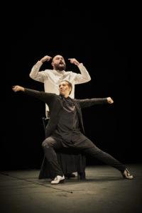 CHRISTOPHE RAYNAUD DE LAGE | Niño de Elche i Israel Galván, en plena performance del seu Mellizo doble a Avinyó