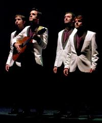 ARXIU | Els quatre actors-cantants-músics de Records a Broadway, que es representa a l'Almeria Teatre