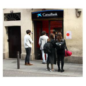 EDU CHIRINOS | Ici, Chirinos fait passer l'Heliogàbal, au quartier de Gràcia, comme agence bancaire