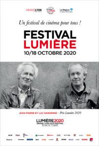 ARCHIVE | L'affiche du Festival Lumière 2020, avec l'image des frères Dardenne en invités d'honneur