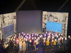 VICENÇ BATALLA | Protesta de autores y autoras denunciando su precariedad en la ceremonia de entrega de premios de Angulema en 2020