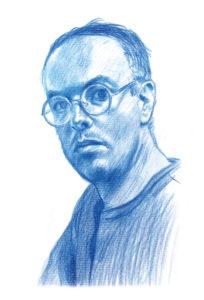 EMMANUEL GUIBERT | Autoportrait de l'auteur dans l'exposition Emmanuel Guibert en bonne compagnie à Angoulême