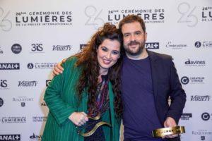 MOREAU-PERUSSEAU/BESTIMAGE | Sílvia Pérez Cruz y Aurel con sus Lumières 2021 a la mejor música y mejor película de animación por <em>Josep</em>