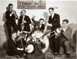 ARCHIVO | Una imagen de la orquesta de jazz Red Ribbon's de Palafrugell, a finales de los años veinte