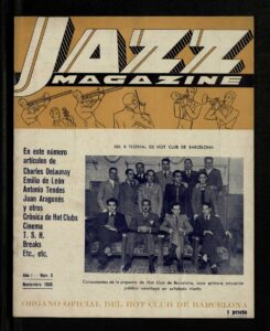ARCHIVO | Portada de noviembre de 1935 de la revista <em>Jazz Magazine</em>, del Hot Club de Barcelona