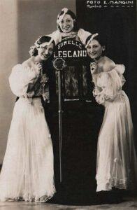 WIKIMEDIA COMMONS | Las hermanas Lescano, precursoras de la canción italiana a partir de los ritmos del jazz