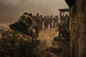 ANTOINE AGOUDJIAN/LE FIGARO MAGAZINE | Rapatriement des militaires arméniens après la signature du cessez-le-feu avec l'Azerbaïdjan, dans la région de Martouni, en novembre 2020