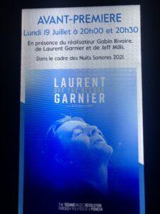 VICENÇ BATALLA | El cartell de presentació del documental <em>Laurent Garnier: Off the Record</em> al cinema Comœdia de Lió