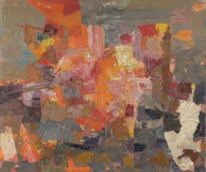 COL·LECCIÓ GENERALITAT DE CATALUNYA/JORDI CANYAMERES   Quadre La guerra, de 1958-1959, en l'època en què Josep Bartolí s'havia endinsat en l'expressionisme abstracte de Nova York
