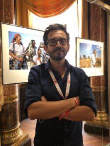 VICENÇ BATALLA | El fotoperiodista Eduardo Soteras, a la seva exposició Tigre: Etiòpia s'enfonsa en el caos, al Visa pour l'Image de Perpinyà al setembre passat